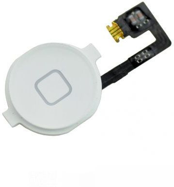 MicroSpareparts Apple iPhone 4 White Home (MSPP70732)