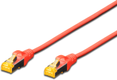 MICROCONNECT S/FTP CAT6A 0.5M Red Snagless