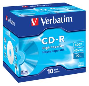VERBATIM CD-R 40X/ 10-PACK-JEWEL 800MB (43428)