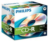 PHILIPS CD-R Audio 80min 10pcs jewel case carton b (CR7A0NJ10/00)