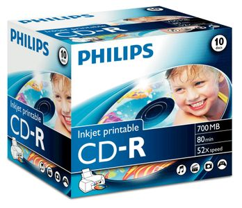 PHILIPS CDR 80M 52X JC IW (10) (CR7D5JJ10/00)