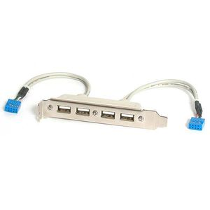 STARTECH 4 Port USB A Female Slot Plate Adapter	 (USBPLATE4)