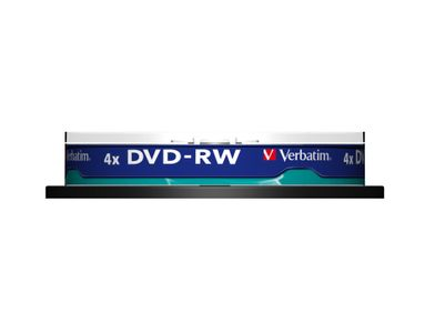 VERBATIM DVD-RW 4X  10-pack spindle (43552)
