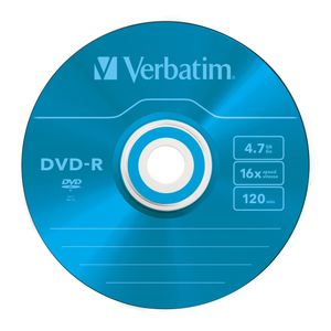 VERBATIM DVD-R 5-p 4,7GB 16X Slim Colour (43557)