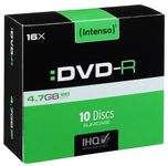 INTENSO 1x10 DVD-R 4,7GB 16x Speed, Slimcase (4101652)