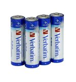VERBATIM AA Alkaline Battery (LR6) 4pack Blister Retail