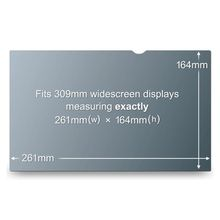 """3M Notebook Privacy 12.1"""" Filter for Wide Passer til 12.1"""" 16:9 (PF12.1W)"""