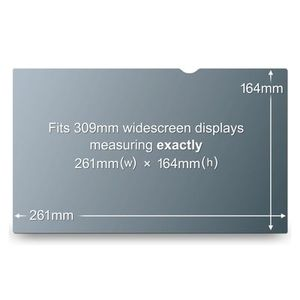 "3M Vision Filter LCD/ Laptop 12.1"" Widescreen Decreases Viewing Angle Clipmount (PF12W)"