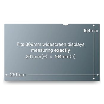 """3M Privacy filter t/ notebook & TFT 12"""""""" widescreen (PF12W)"""