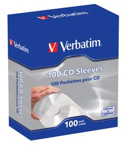 VERBATIM Sleeves 100 pcs. In a box  (49976)