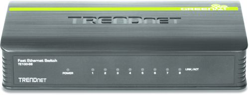 TRENDNET 8-port 10/ 100Mbps N-Way Mini Switch (TE100-S8)
