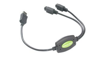 IOGEAR USB to PS/2 adapter for keyboard/ mouse (GUC10KM             )