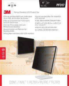 3M PF317 FRAMED PRIVACY FILTER 15,0IN -17IN 38, 1-43, 2CM 5:4     IN ACCS (98-0440-4460-4)