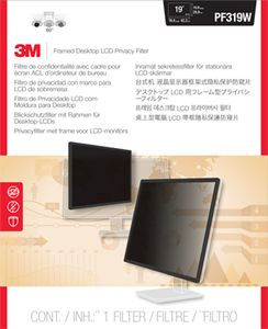 3M PF319W FRAMED PRIVACY FILTER 18,5IN -19IN 47, 0-48, 3CM 16:10   IN ACCS (98-0440-4548-6)