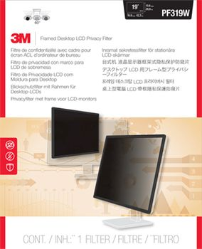 3M PRIVACY FILTER 19IN LCD WIDESCREEN PRIVACY FILTER (PF319W)
