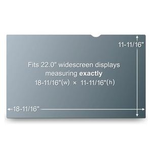 "3M TFT Privacy 22"" Filter for Widescreen Passer til en std. 22"" Widesceen Monitor (PF22.0W)"