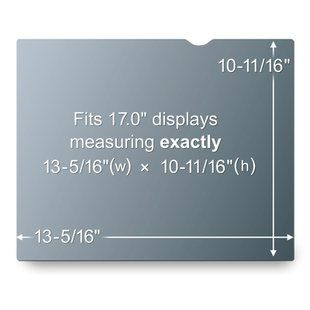 3M PF17.0 PRIVACY FILTER BLACK FOR 17.0IN / 43.2 CM / 5:4 ACCS (7000022830)