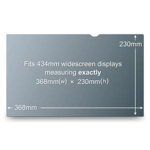 "3M Notebook Privacy 17.0"" Filter for Wide passer til Notebook med 17"" Widescreen (PF17.0W)"