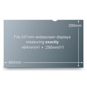 "3M Vision Filter LCD/ Laptop 21.6"" Widescreen Decreases Viewing Angle Clipmount (PF21.6W)"