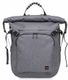 KNOMO KNOMO HAMILTON Backpack 15inch - Roll top with front pocket GREY