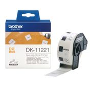 Brother PERMANENT ADHESIVE SQ LABEL 23MM X  23MM 1000 P ROLL