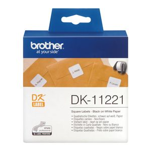 BROTHER Squared labels 23x23 white paper (1000) (DK-11221)