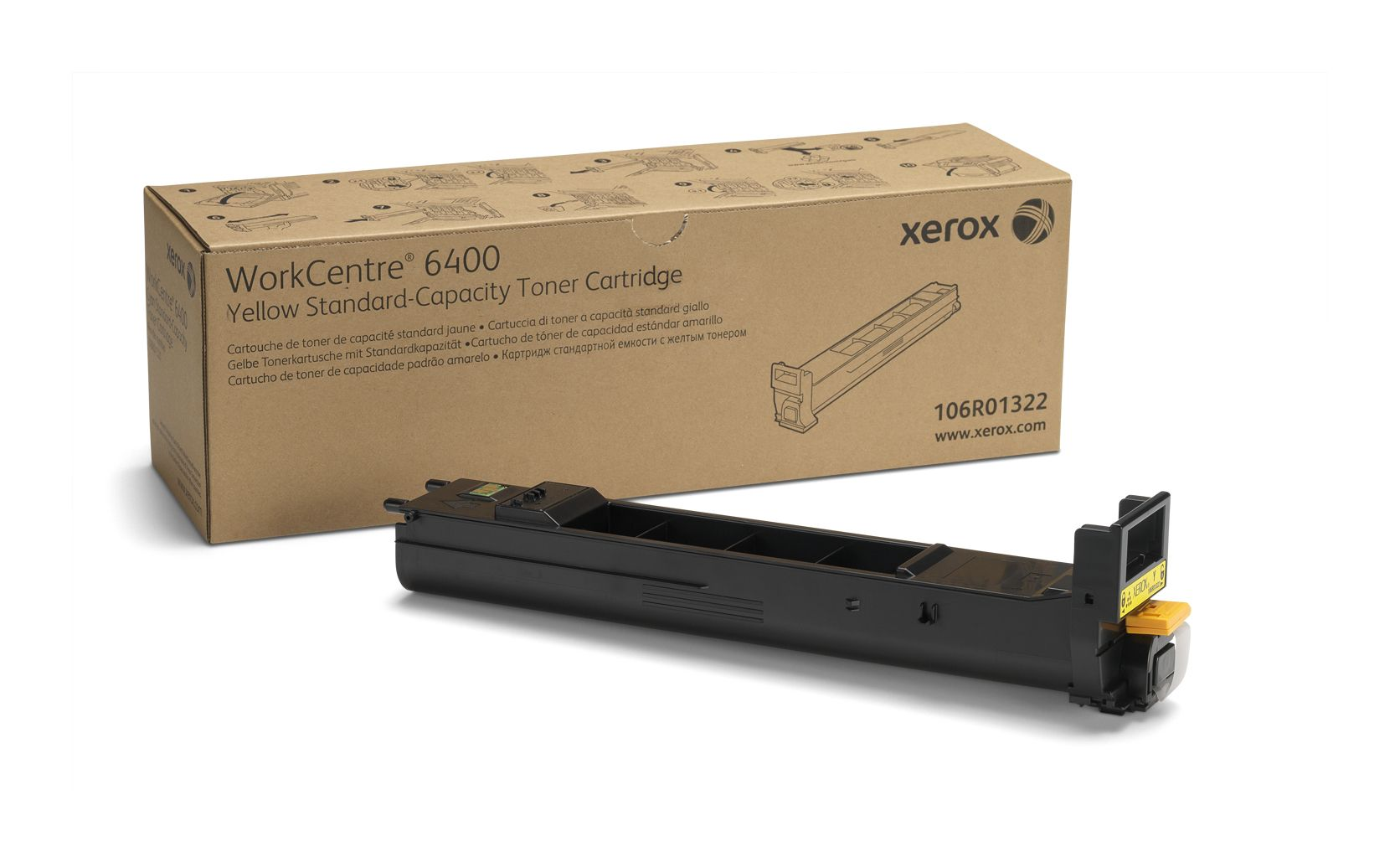 XEROX WorkCentre 6400 - Gul - original - tonerpatron - for WorkCentre 6400, 6400/XFM, 6400S, 6400SFS, 6400X, 6400XF, 6400XM (106R01322)