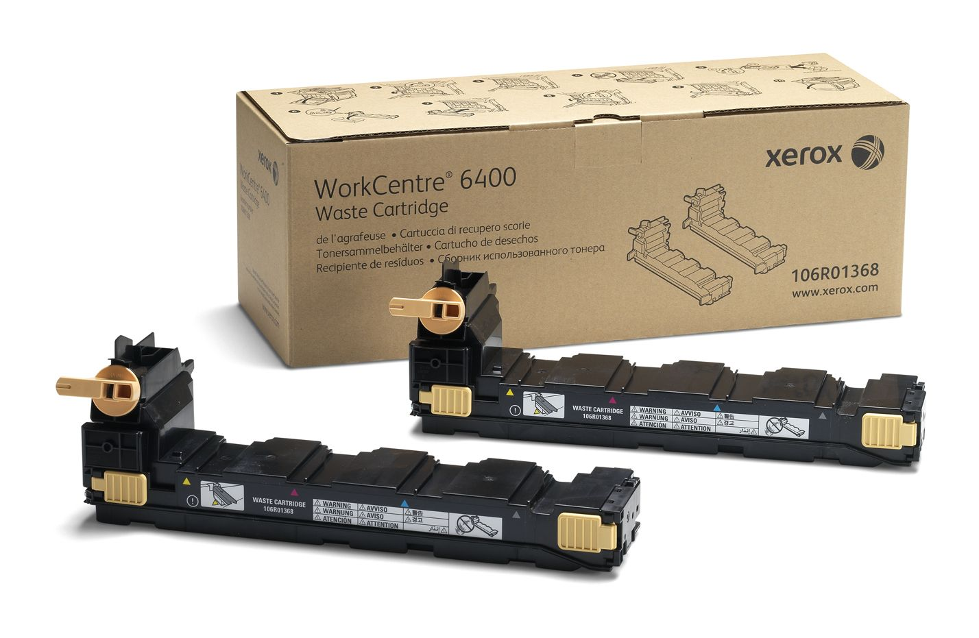 XEROX WorkCentre 6400 - 2 - original - Toneroppsamler - for WorkCentre 6400, 6400/XFM, 6400S, 6400SFS, 6400X, 6400XF, 6400XM (106R01368)