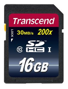TRANSCEND 16GB SDHC(SD 3.0) High Speed Class 10 (Alt. TS16GSDHC10) (TS16GSDHC10)