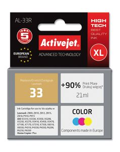 ACTIVEJET TIN ACTIVEJET AL-33R Refill für Lexmark No. 33 colour (EXPACJALE0025)