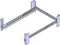 ORIGIN STORAGE Universal Rack Rails, 1U, maks 20 kg Monteringsdybde 254 - 806 mm