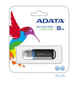 A-DATA 8GB USB Stick Classic C906 black (AC906-8G-RBK)