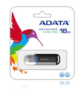 A-DATA 16GB USB Stick Classic C906 black (AC906-16G-RBK)