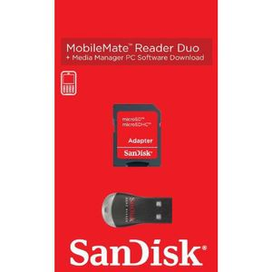 SANDISK Adapt. Micro SD to SD w/USB read - qty 1 (SDDRK-121-B35)