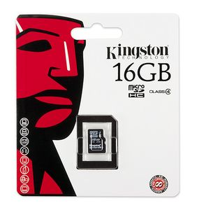 KINGSTON SecureDigital Micro 16GB HC Card only (SDC4/16GBSP)