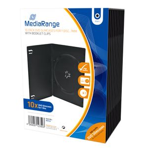 MediaRange DVD Leerbox 10pcs Single Slim schwarz retail (BOX33)