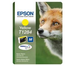 EPSON T1284 ink DURABrite Ultra yellow M 3,5ml for Stylus S22 SX125 SX420W SX425W BX305F BX305FW SX130 SX440W (C13T12844011)
