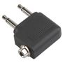 BANDRIDGE Headset Stereo Audio Adapter Flyadapter. 2 x minijack till minijack