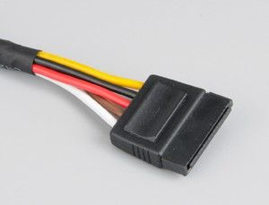 AKASA SATA Power Cable Extension - 30cm, Cable sleeved (AK-CBPW04-30)