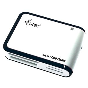 I-TEC USB 2.0 All-in-One Memory Card Reader WHITE/ BLACK (USBALL3-W)