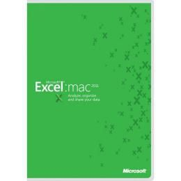 MICROSOFT Excel Mac 2011 All Lng  1 LIC Level C Add Product Each (D46-00867)