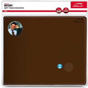 SPEEDLINK NOTARY Soft Touch Mousepad, brown (SL-6243-LBR)