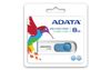 A-DATA 8GB USB Stick C008 Slider USB 2.0 white blue (AC008-8G-RWE)