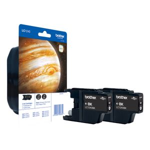 BROTHER LC-1240 BK BP2DR schwarz Twin-Pack (LC1240BKBP2DR)