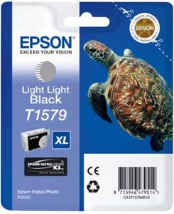EPSON T157 Light Light Black Cartridge - Retail Pack Stylus Photo R3000 (C13T15794010)