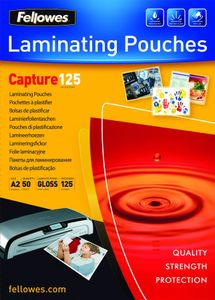 FELLOWES Laminating pouches Fellowes A2 125mic capture 50pack (5309302)