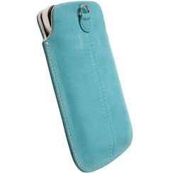 KRUSELL Luna Mobile Pouch Turquoise Nubuck Large (95314)