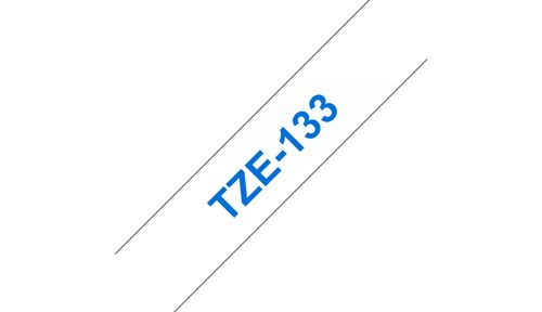 BROTHER 12MM Blue On Clear Tape (TZE133)