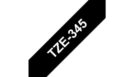 BROTHER P-Touch TZE-345 white on black 18mm (TZE345)