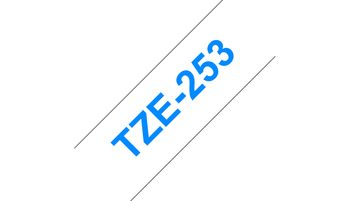 BROTHER TZ253 tape cassette 24mm 8m white blue P-touch 300 500 2400series (TZE-253)